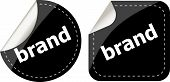 Brand Labels, Stickers, Pointers, Tags For Your (web) Page poster