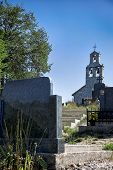 image of former yugoslavia  - Church and cemetery in Montenegro - JPG