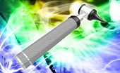 picture of otoscope  - Digital illustration of otoscope in white background - JPG