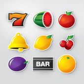 foto of slot-machine  - Symbols set 1 for slot machine in casino - JPG