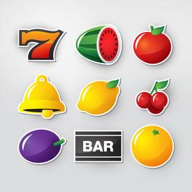 picture of slot-machine  - Symbols set 1 for slot machine in casino - JPG