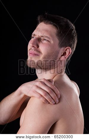 Man Suffering From Arm Pain