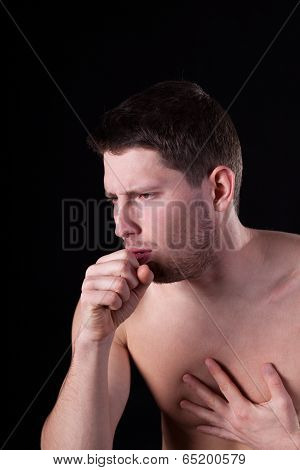 Man Suffering From Cough