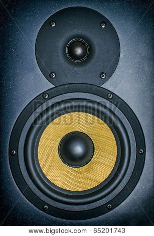 Professional Music Studio Monitor. Close-up.