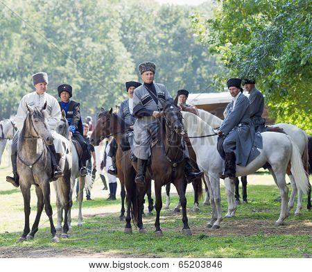 Riders On Horseback. Cossacks