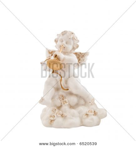 Figurine In The Form Of The Angel Playing Musical Instrument