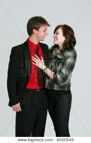 Young Couple Dressed Up