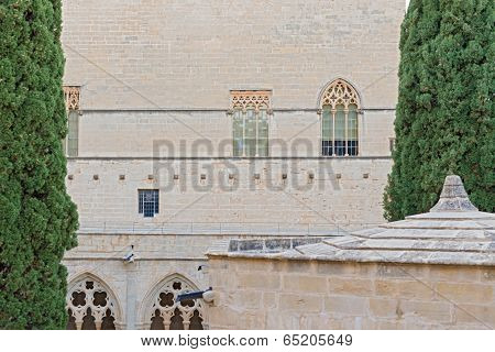 Poblet Monastery Near Barcelona In Catalonia, Spain