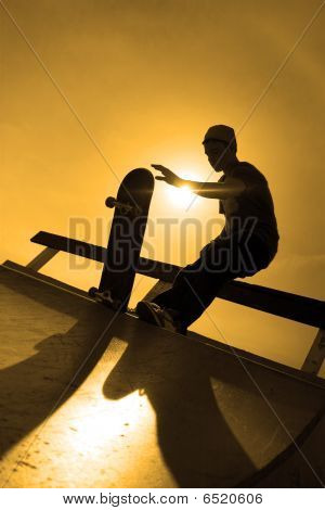 Skateboardfahrer Kontur