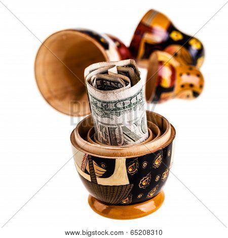 Dollar In Russian Doll