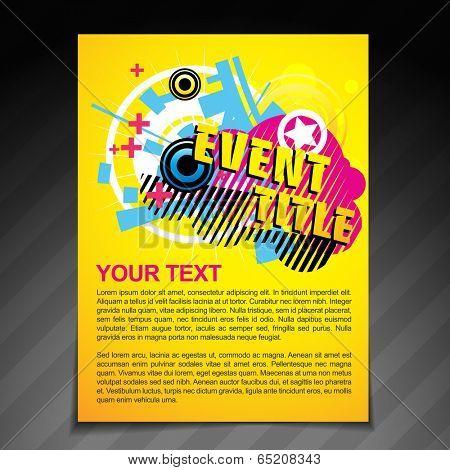 vector event brochure flyer template poster design