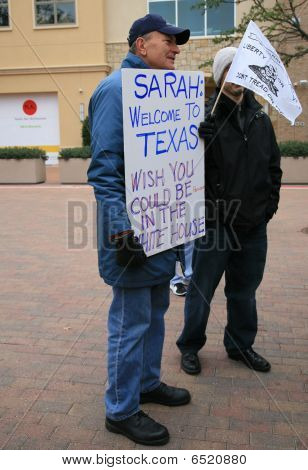 Sarah Palin Supporter at Book Signing