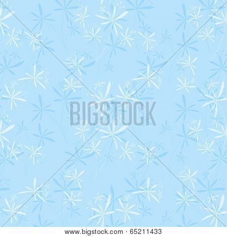 Springtime Flower Seamless Pattern Background