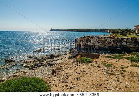 The coast of Funtana Meiga in Sardinia Island