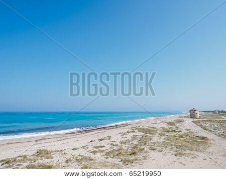 Old windmill ai Gyra agios yoannis beach, Lefkada