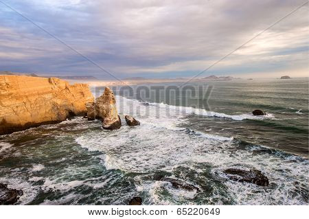 Cathedral Rock Formation, Peruvian Coastline