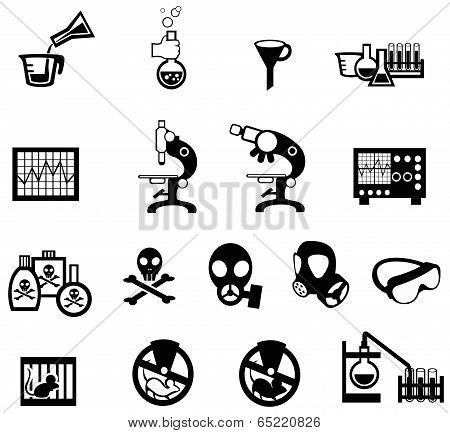 Silhouette Science, Chemistry, And Engineering Tool Icon Set 2 (vector)