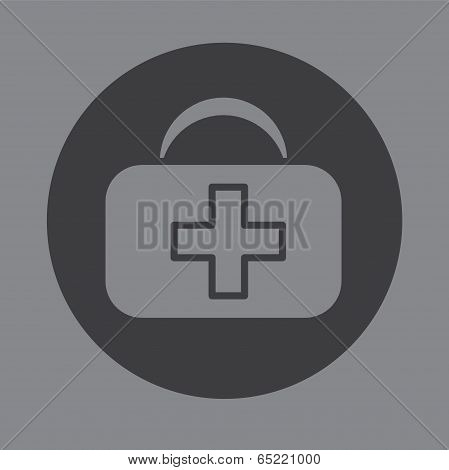First Aid Bag Icon Symbol Vector.eps
