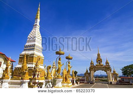 Temple With Gold Blue Sky