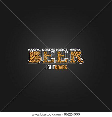 beer design menu background