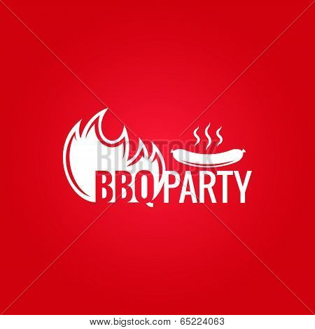 barbecue fire design background
