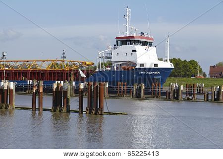 Brunsbuettel - Freighter At Departure Of Lockage