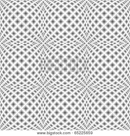 Design Seamless Monochrome Warped Diamond Pattern