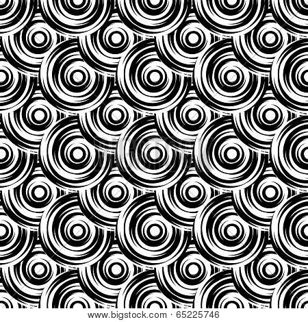 Design Seamless Monochrome Circle Pattern