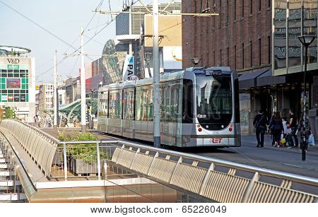 Tramway In The Centre Of The City Rotterdam, Netherlands