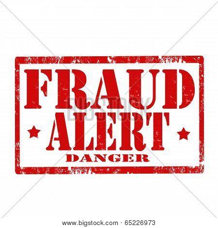 Fraud Alert-stamp