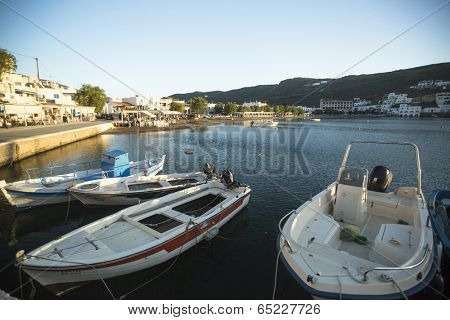KYTHNOS, GREECE - APR 30, 2014: Marina of Kythnos, is a Greek island 100 km2 in area and has a coastline of about 100 km. It has more than 70 beaches, many of which are still inaccessible by road.