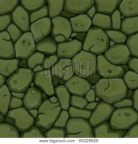 Green stone seamless background. Vector illustration