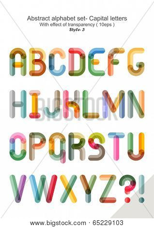Abstract alphabet set - Capital letters ( 10eps )