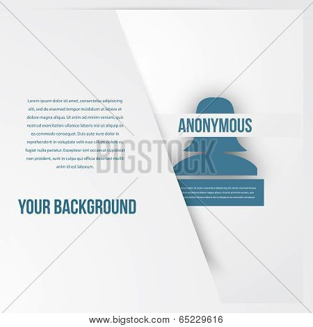 Abstract people template. Anonymous icon.