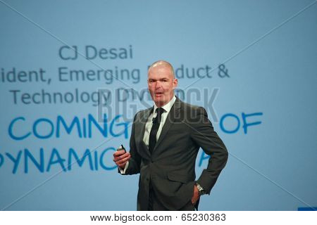 Las Vegas, Nv - May 5, 2014: Emc Chief Marketing Officer Jonathan Martin Makes Speech At Emc World 2