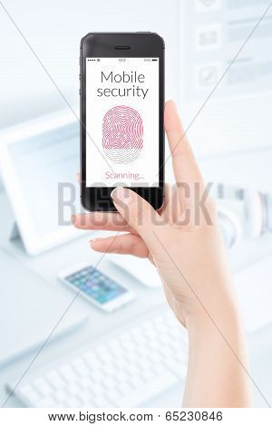 Mobile Security Smartphone Fingerprint Scanning