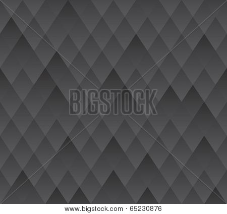Vector Seamless Background, Dark Grey Geometric Texture.