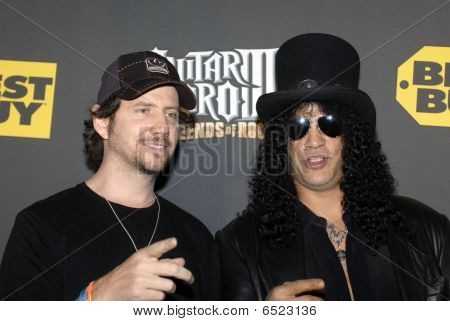 Jamie Kennedy and Slash on the red carpet
