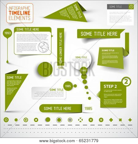 Vector Green infographic timeline elements / template