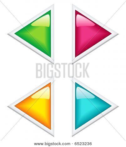 Glossy arrows set