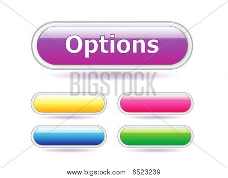 Long rounded buttons set