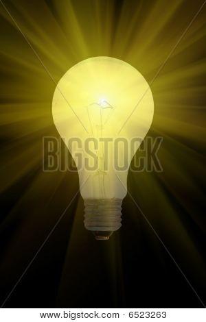 Electric Light Bulb Burning