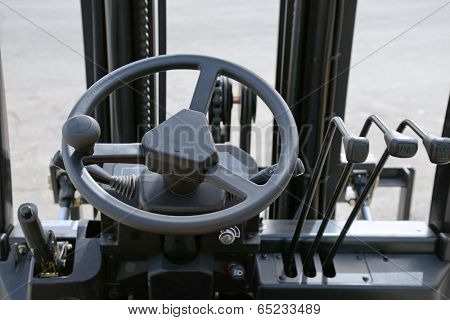 Close up of generic forklift dashboard