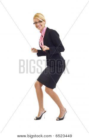 Excitated Businesswoman