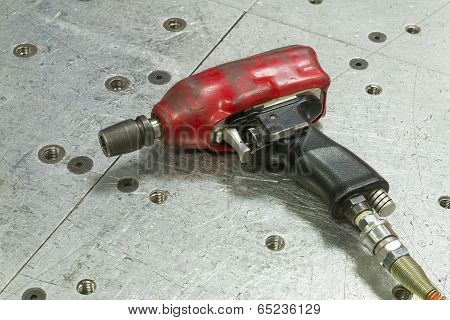 Red Pneumatic Wrench