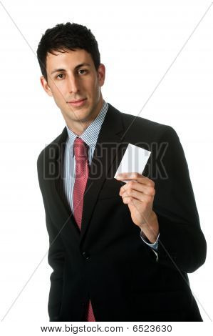 Businessman With Namecard