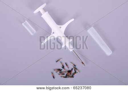 Syringe And Animal Id