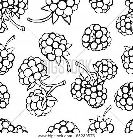 Seamless pattern  of berries
