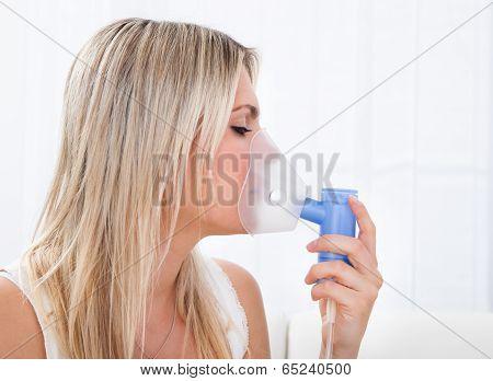 Woman With Asthma Inhaler