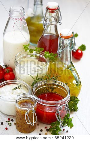 Assortment of salad dressings